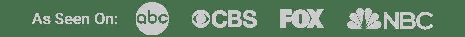 As seen on abc, CBS, FOX, NBC
